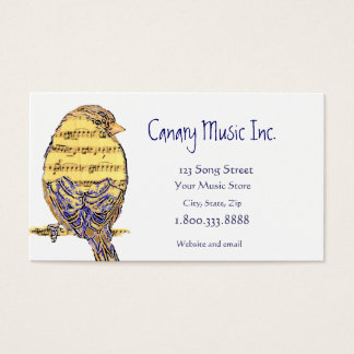 Music Note Bird Custom Business Card
