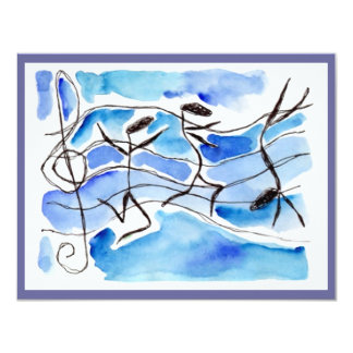 Music Note Dancers Recital Or Party INVITATION