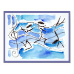 Music Note Dancers Recital Or Party INVITATION 11cm X 14cm Invitation Card