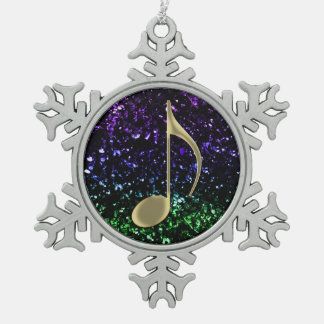 Music Note Glitter Holiday Ornament