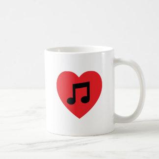 Music Note Heart Coffee Mug