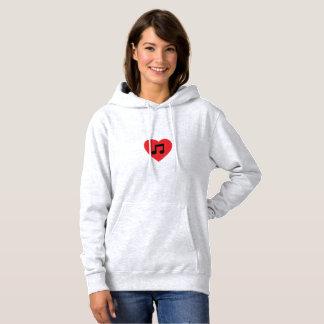 Music Note Heart Hoodie