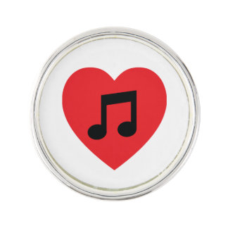 Music Note Heart Lapel Pin