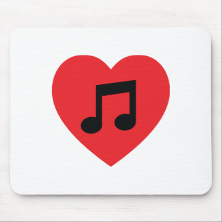 Music Note Heart Mousepad