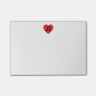 Music Note Heart Post-it Notes