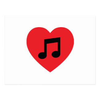 Music Note Heart Postcard
