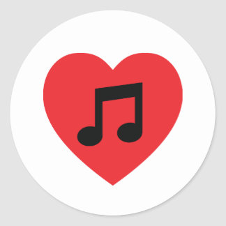 Music Note Heart Sticker