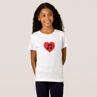 Music Note Heart T-Shirt