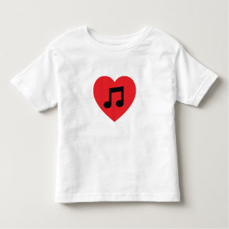 Music Note Heart Toddler T-Shirt