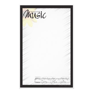 Music Note Paper Custom Stationery