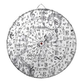 Music Note Pattern Music Theme Dartboard