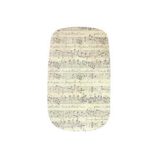 music note Pattern Music Theme finger nail art
