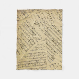 music Note Pattern Music Theme Fleece Blanket
