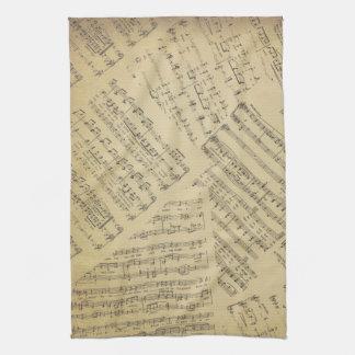 music Note Pattern Music Theme Kitchen Towel