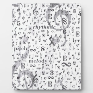 Music Note Pattern Music Theme Plaque