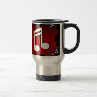 MUSIC NOTE RED BACKGROUND PRODUCTS MUG
