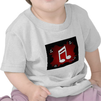 MUSIC NOTE RED BACKGROUND PRODUCTS T SHIRTS
