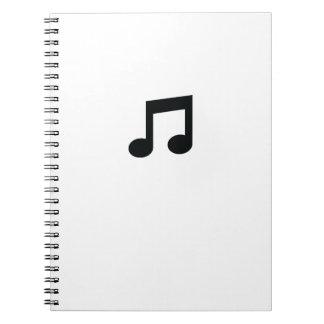 Music Note Spiral Notebook