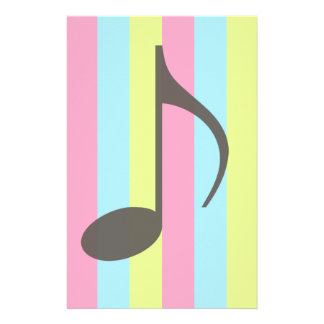 Music Note Stationery Design