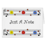 Music Note Thinking Of You Card(Large Print)