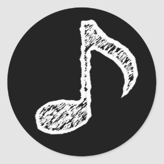 Music Note -White Sticker