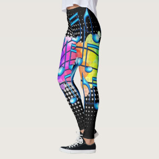Music Notes Abstract Colourful Leggings