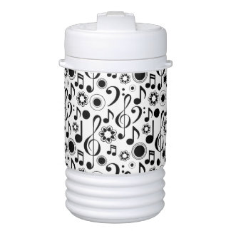 Music Notes and Clefs Drinks Cooler