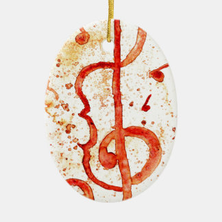 Music Notes Art 2 Ceramic Ornament