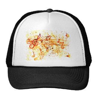 Music Notes Art Cap