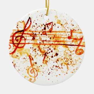 Music Notes Art Ceramic Ornament