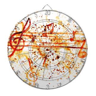 Music Notes Art Dartboard