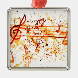 Music Notes Art Metal Ornament