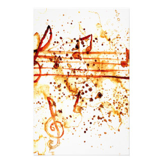 Music Notes Art Stationery