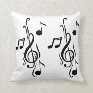 Music notes Art Throw Pillow
