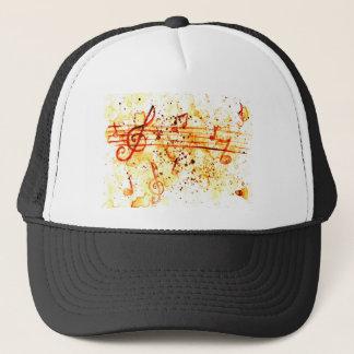 Music Notes Art Trucker Hat