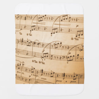Music Notes Background Baby Blanket