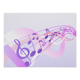 Music Notes Background Poster