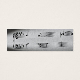 Music Notes Bookmark Mini Business Card