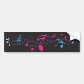 music notes bumper sticker