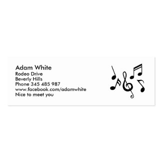Music notes business cards