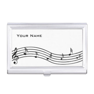 Music Notes Business Card Case