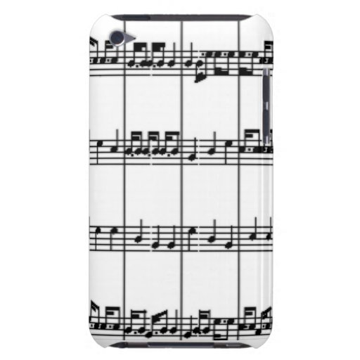 Music Notes Barely There iPod Cases