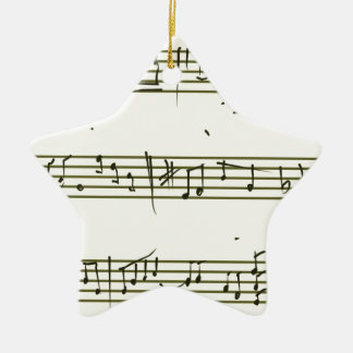 Music notes ceramic ornament