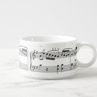 music notes chili bowl