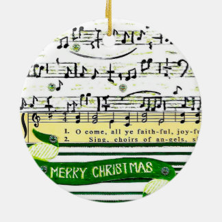 Music Notes Christmas Tree Ornament