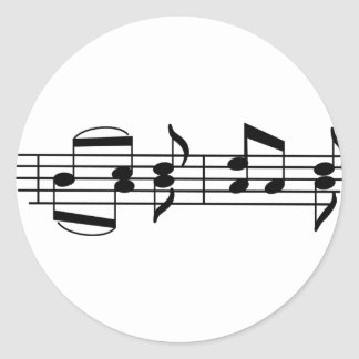 Music Notes Classic Round Sticker