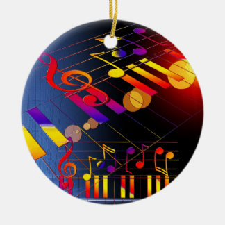 Music notes colorful illustration ornaments