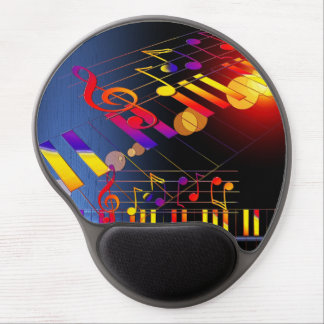 Music notes colorful illustration gel mouse pad
