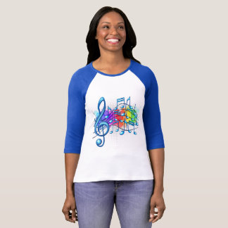 Music Notes Colourful T-Shirt