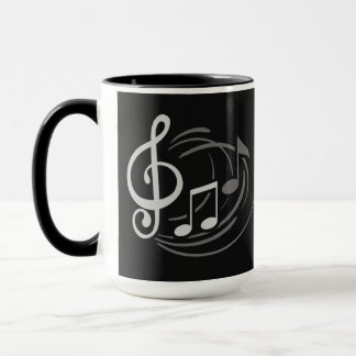 Music Notes custom name mugs